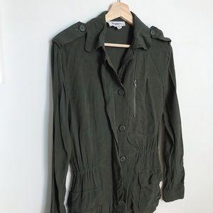 BB DAKOTA Green Army Button Jacket Top XS